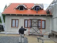 Устройство скатной крыши из  цементно-песчаной черепицы с ...