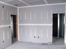 Установка ГКЛ,подготовка стен.